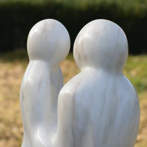 Luisteren figuratief beeld Portugees marmer licht gemêleerd uitsneden hoofden